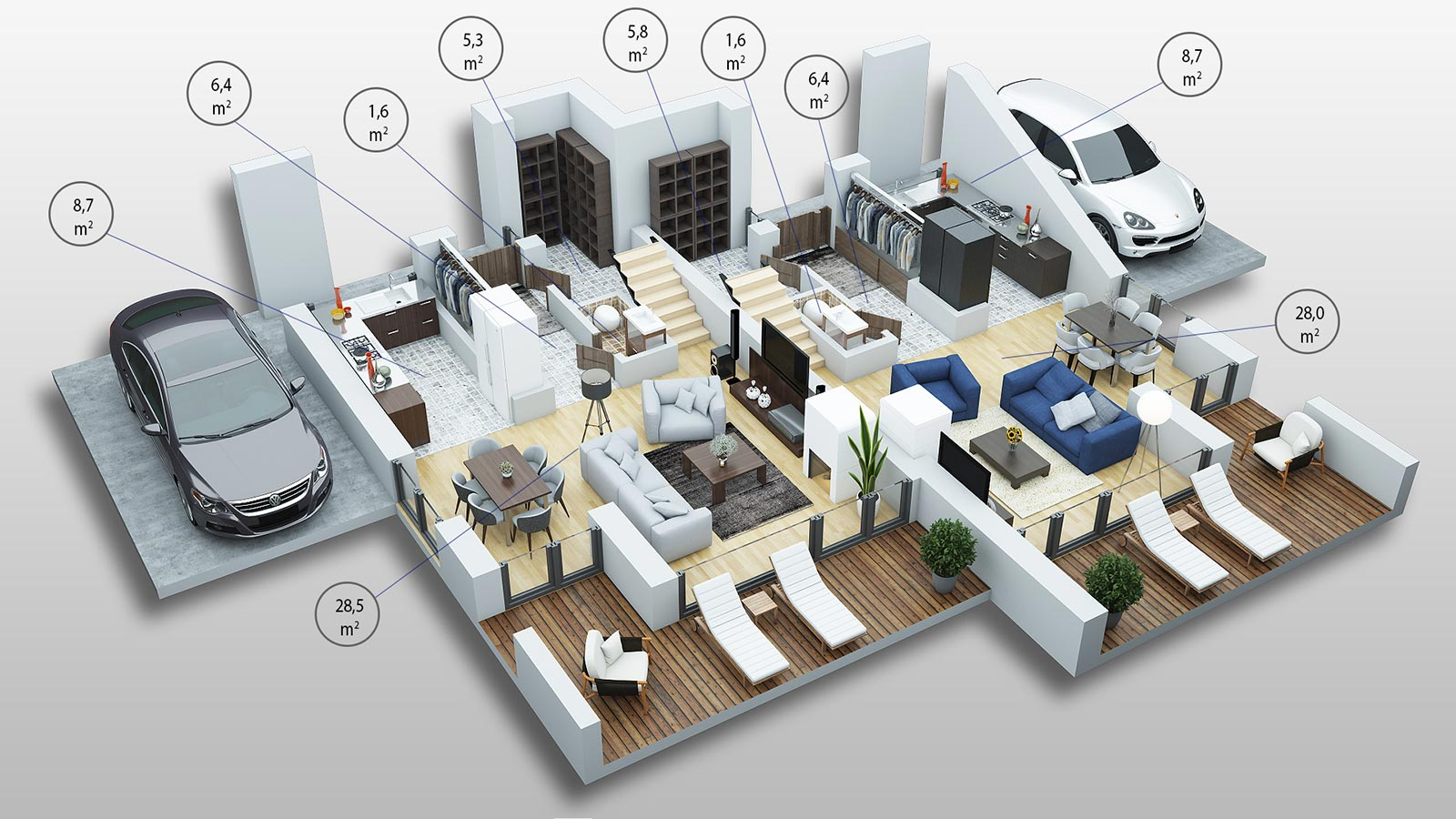 Sostinės Parkas - Pirmojo namo varianto pirmojo aukšto palnas